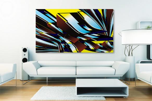 décoration salon moderne toile design autantick