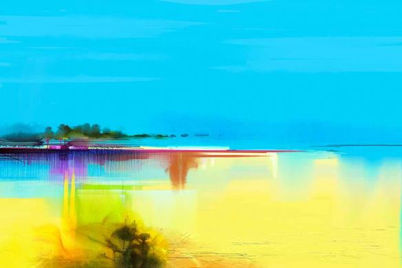papier peint sur mesure horizon abstrait