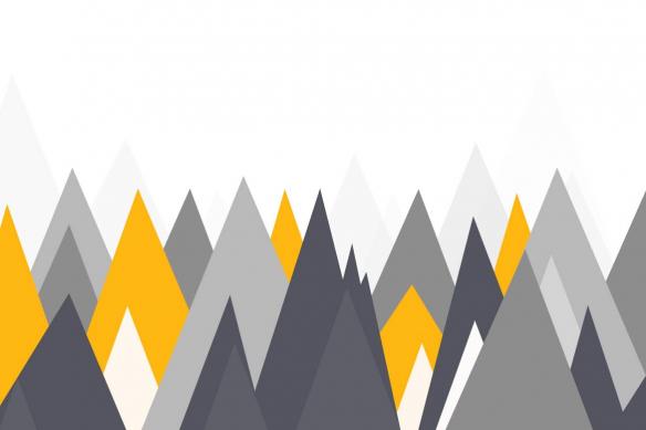 toile scandinave montagnes grises et jaunes