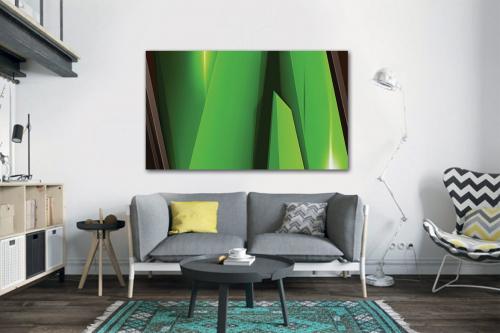 Tableau couleur vive vert Steel