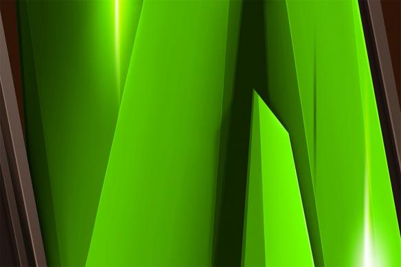 tableau abstrait vert steel
