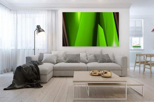 tableau coloré vert steel