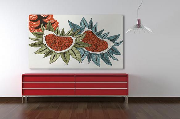 Tableau sur toile Edelweiss