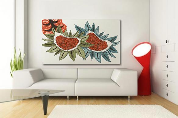 tableau edelweiss déco scandinave