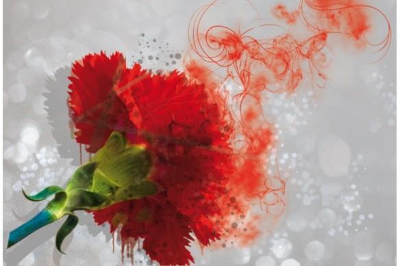 Tableau fleur design oeillet