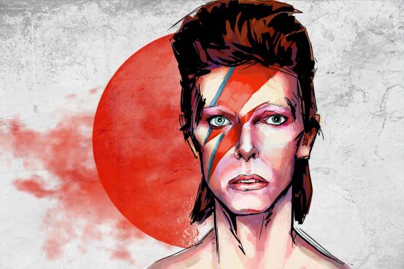 toile moderne originale Bowie