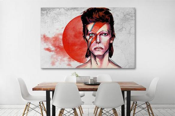 décoration murale originale toile David Bowie