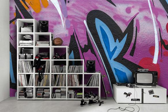 Papier peint graffiti Tag urbain