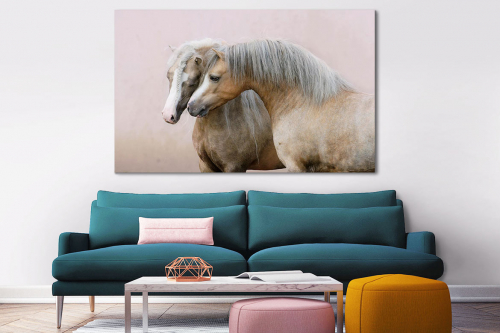 Tableau toile chevaux amoureux