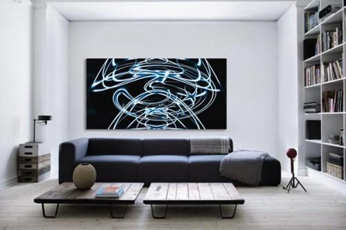 tableau art contemporain pain lighting