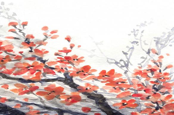 tableau sur toile rouge et gris renaissance