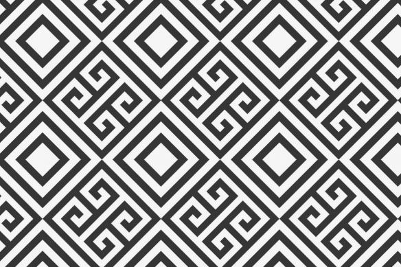 tableau moderne motif géométrique noir et blanc invictus