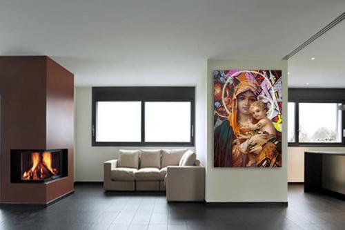 decoration-murale-contemporaine-jesus-marie