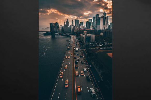 cadre new york vue sur boulevard