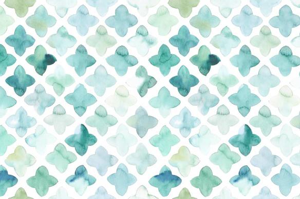 tapisserie-mur-fleur-aquarelle