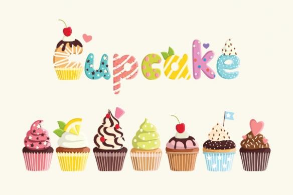 papier peint pour cuisine cupcakes gourmands