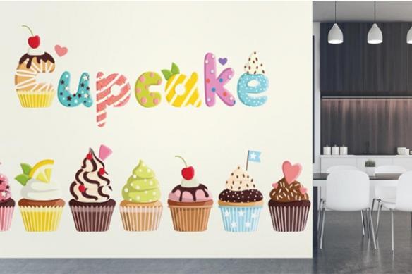 Tapisserie cuisine Cupcakes gourmands
