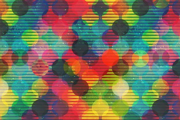 tableau moderne boules multicolores