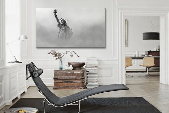 Tableau Statue de la liberté New York noir et blanc