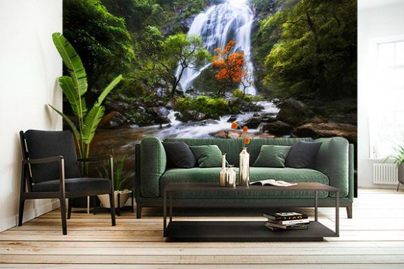 Papier peint tropical Cascade dans la forêt