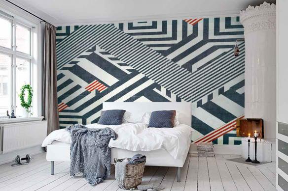 Papier peint géométrique Oulan