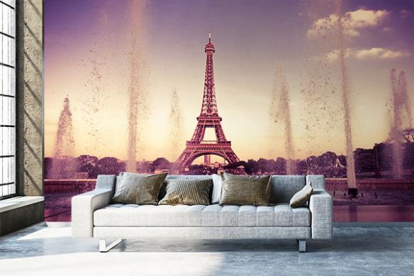 Papier peint Paris Vue sur la Tour Eiffel