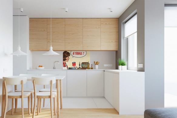 décoration cuisine vintage et retro crédence izoa