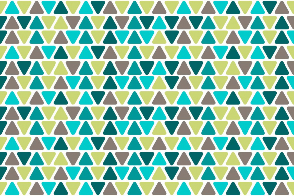décoration murale tendance triangles verts