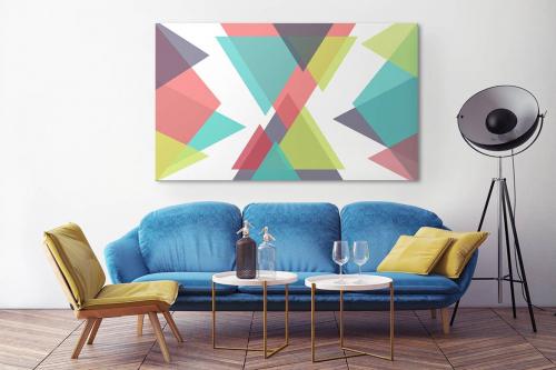 Tableau géométrique scandinave Trio