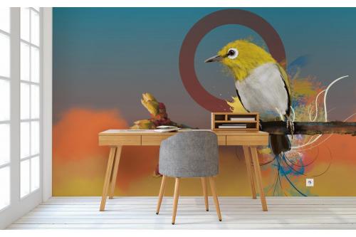 Papier peint oiseau Quiet Time