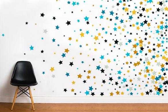 papier-peint-intissé mur étoiles