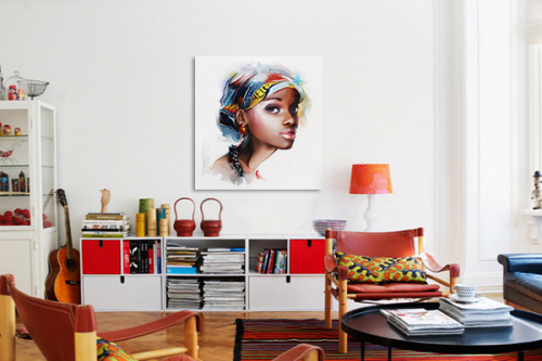 toile-murale-femme-africaine