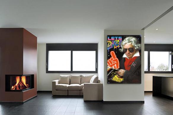 décoration moderne toile design beethoven