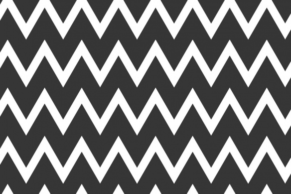 tableau géométrique zigzag noir et blanc