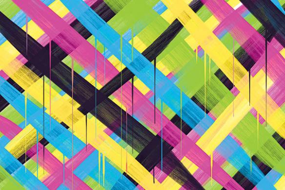 papier peint moderne coloré power couleurs