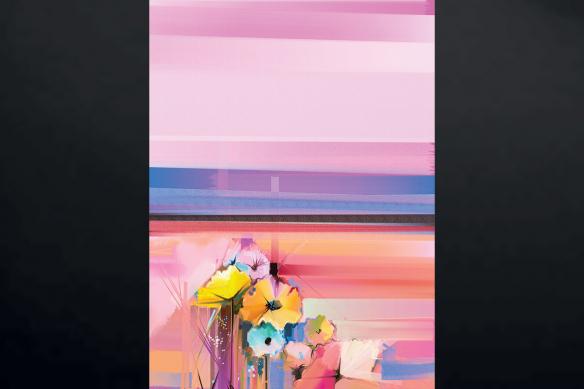 toile imprimée verticale rose blush