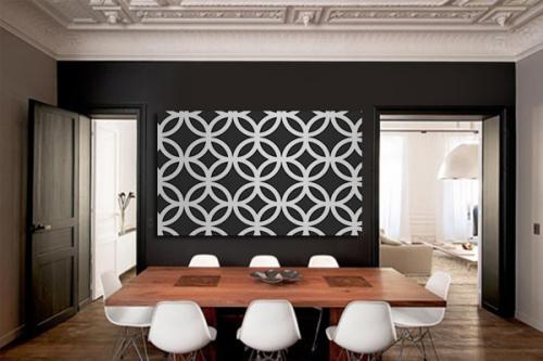 tableau abstrait moderne noir et blanc florilège