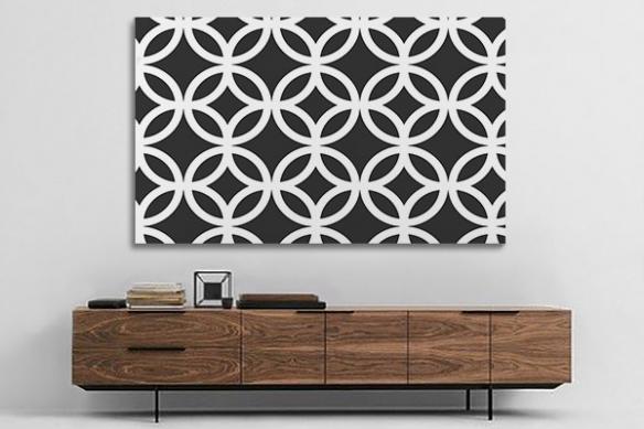tableau géométrique noir et blanc florilège