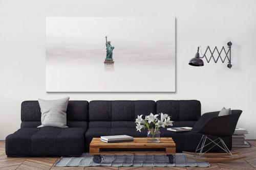 déco salon tableau new york statue liberté