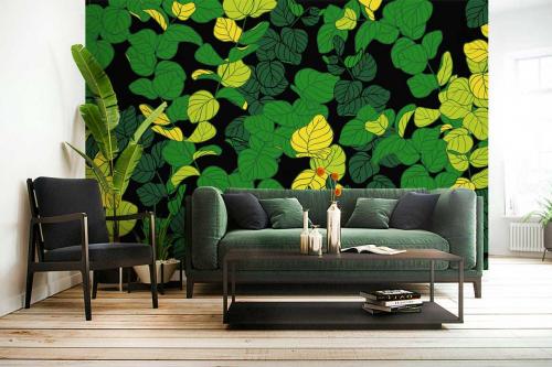 Papier peint tropical feuillage bucolique