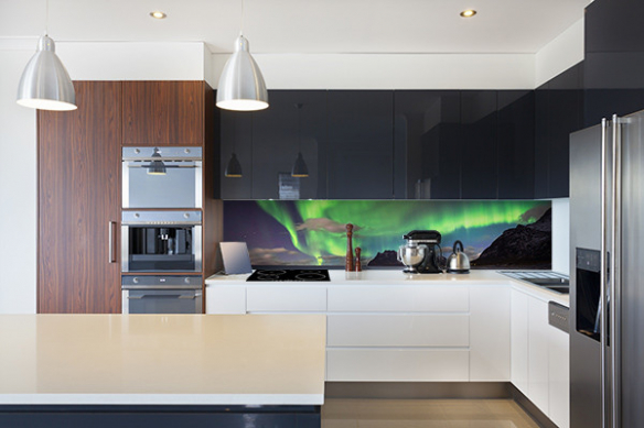 décoration cuisine crédence design boréale