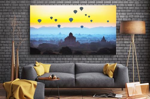 décoration salon zen montgolfière Myanmar