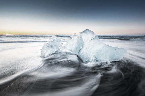 papier peint trompe l'oeil antarctique