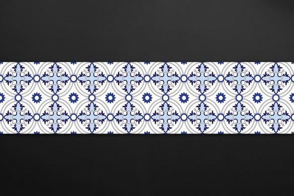 credence effet carreaux de ciment croix bleues