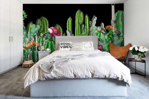 Papier peint forêt de Cactus
