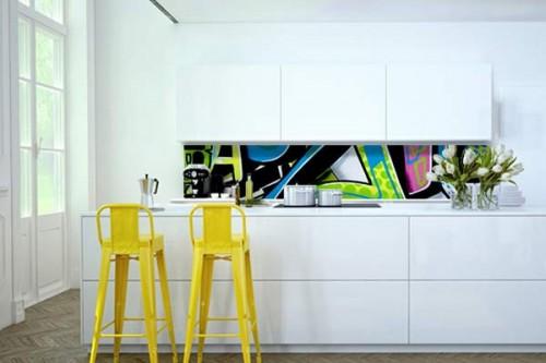 Crédence Tag cuisine design