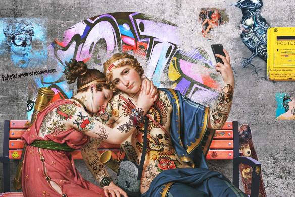 tableau-street-art-selfie-amoureux
