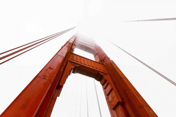Décoration murale San Francisco brouillard
