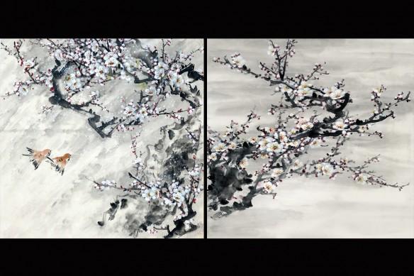 tableau plusieurs parties floraison