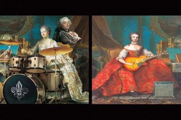 décoration murale baroque orchestre